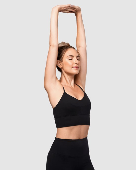 Yoga BH Darted Bra, Black - Manduka