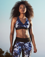 Yogabyxor Combat Tights, Navy Leaves - Stay in place