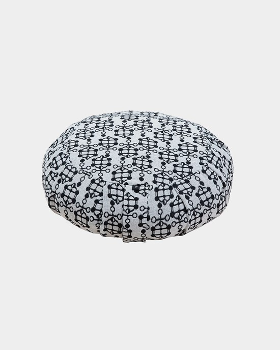 Meditationskudde Ann Ringstrand for Yogiraj, Meditation cushion Off White Jacquard pattern