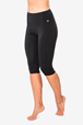 Yogatights W Super 3/4 Tights, Jet Black - Super.Natural