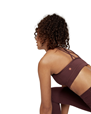 Yoga BH Cross Strap Bra, Dark Chestnut - Manduka