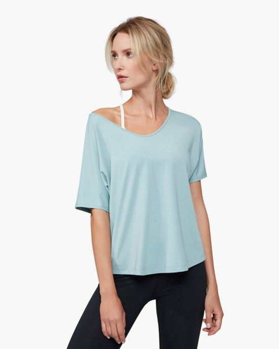 Yogatopp Enlight Relaxed Tee, Stone Blue - Manduka