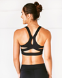 Cross-Back Halter Bra, Black - Manduka