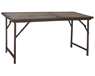 Indiskt vintagebord Iron and Wood Folding Table