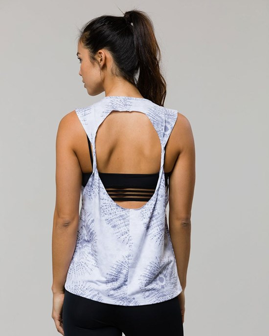 Twist Back Top Gray Shibori - ONZIE
