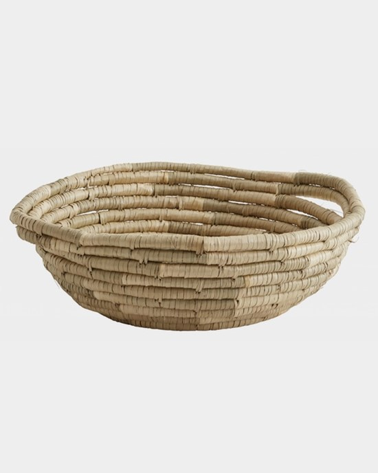 Korgar Seagrass basket, round w. handle, nature - NORDAL