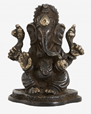 Black Ganesh, small w/fabric bag - NORDAL