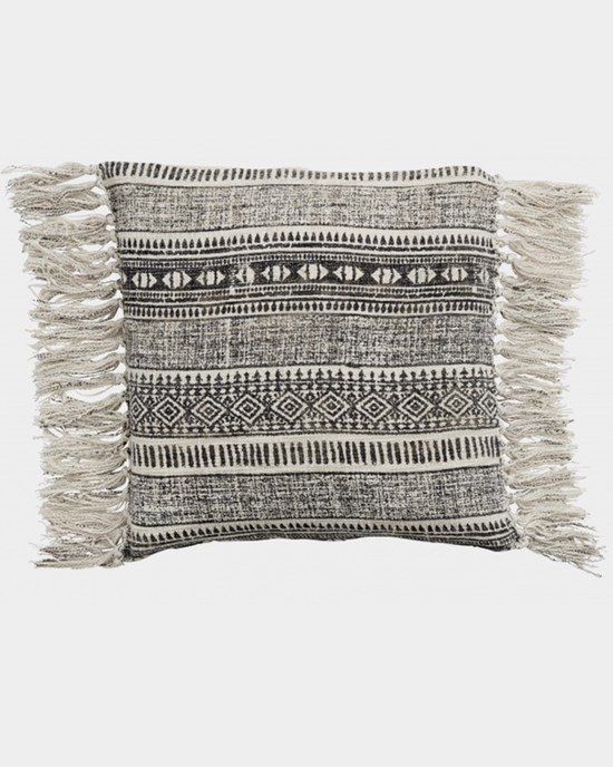 Kuddfodral Cushion cover, natural w/ethnic print - NORDAL