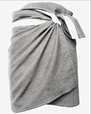 Handduk TOWEL TO WRAP AROUND YOU, LIGHT GREY (155 x 60 cm) - The Organic Company