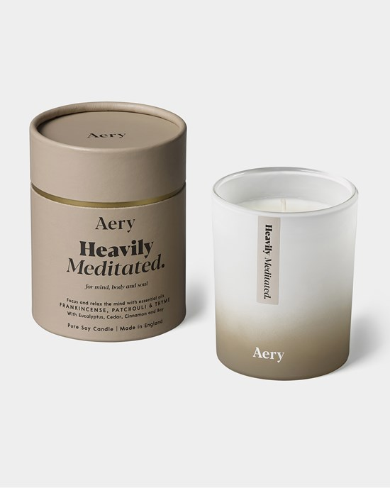Doftljus Heavily Meditated Scented Candle, Frankincense, Patchouli & Thyme - Aery Living